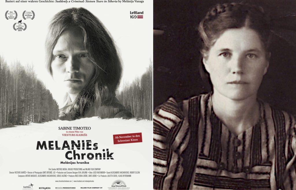 Filmplakat (www.mythenfilm.ch) mit Sabine Timoteo und die echte Melanija Vanaga (Quelle: Wikipedia)